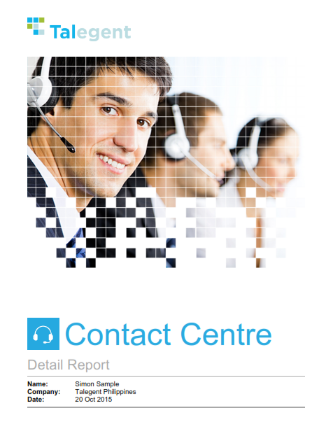 Contact Center Skills Assessment Sample Report