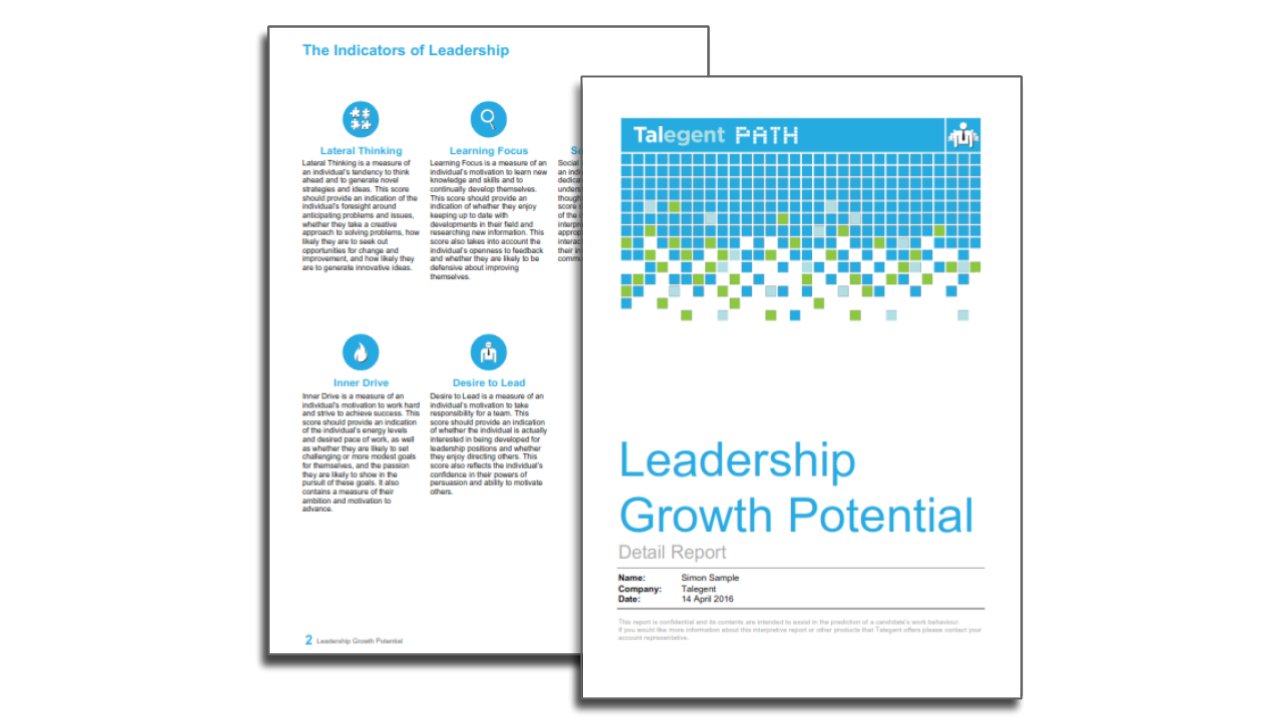 Talegent Leadership Potential Report