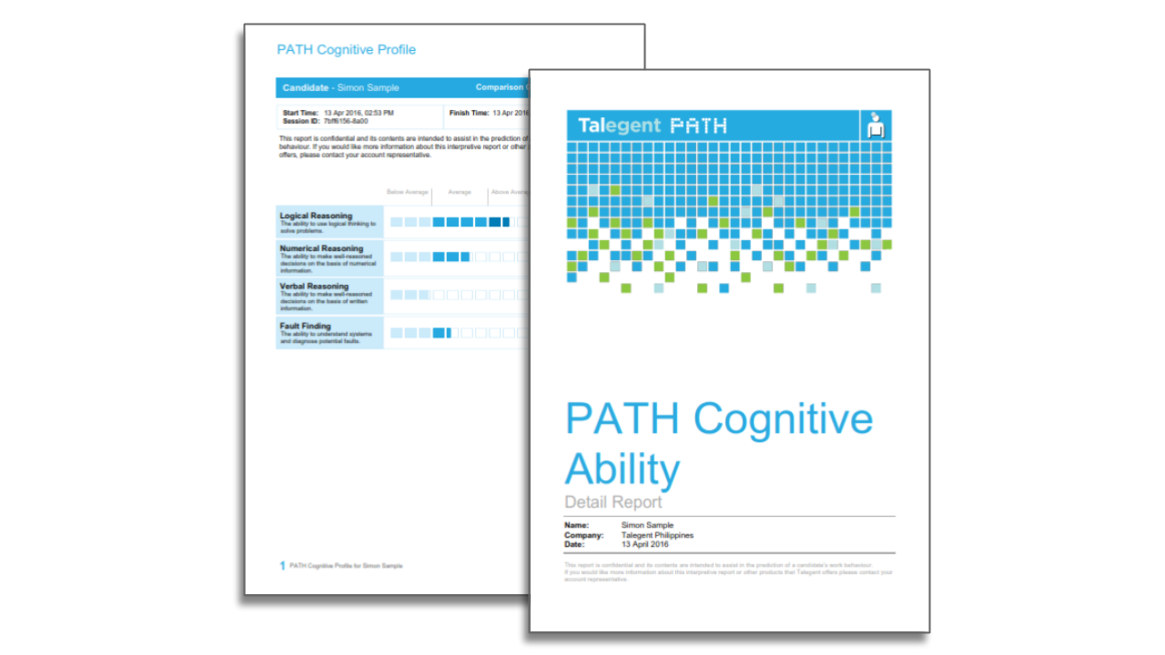 Talegent Cognitive Ability Report